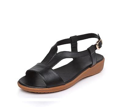 689133997 sandalias de estilo palabra zapatos abiertos de las mujeres con zapatos  cómodos plano del ocio inferiores