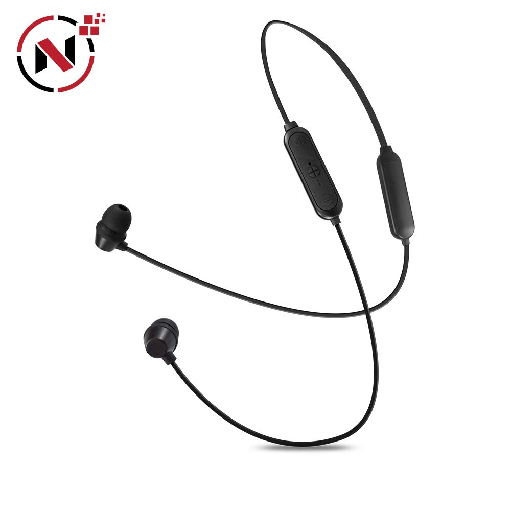 Wireless Headphones NOCORD Magnetic Earbuds, Waterproof Resistant Neckband Bluetooth Earbuds, Travel, Workout, Gym, Sports Use Lightweight HD Stereo Headsets w/Mic, Black