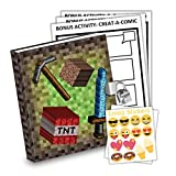 The Kids Merchant Pixel Mining Kids Diary With Lock Includes 6.5 Inch Diary, Stickers, & Bonus Activity Pages
