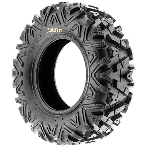 SunF Power.I 25 inch ATV UTV all-terrain Tires 25x8-12 & 25x11-12, 6 PR Front & Rear Set of 4 A033, Tubeless by SUNF (Image #3)