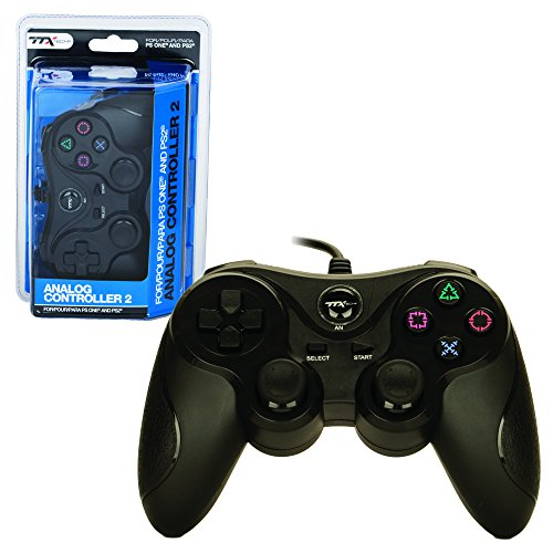 (TTX PS2 Controller - Wired - New - Similar Functions of DualShock 2 - Black (TTX Tech) - PlayStation 2)