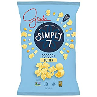 Simply 7 with Giada Popcorn, Butter, 4.4 Ounce (Pack of 12), Packaging May Vary
