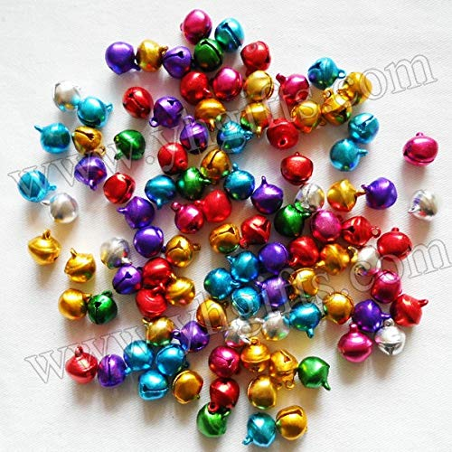 Dalab 1000PCS/LOT,12mm Metal Jingle Bell,Lacing Bells, Doll Accessories, Christmas oranment.DIY Material.Craft Bells, Promotion Gift