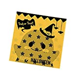 Smartcoco 100pcs Spooky Pumpkin Halloween Trick or Treat Plastic Candy Bags for Party Favors, Snacks, Decoration, Children Arts & Crafts, Event Supplies