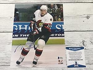 Marian Hossa Signed Auto Ottawa Senators 8x10 Photo Beckett Authentic