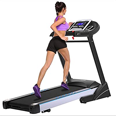 Fitness Folding Electric Treadmill WIFI Touch Screen 3.0HP Walking Running Machine Trainer Equipment [US STOCK]