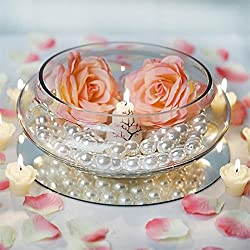 "BalsaCircle 10 pcs 10"" wide Clear Floating Candle Glass Vase Bowls for Wedding Party Birthday Centerpieces Home Decorations Supplies"