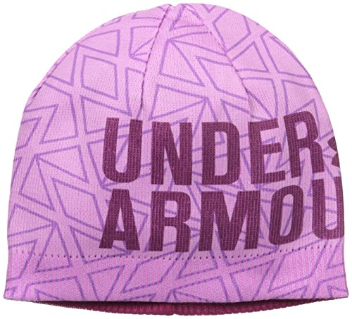 Under Armour Girls' Graphic Beanie, Verve Violet/Black Cherry, One - Cherry Beanie Black
