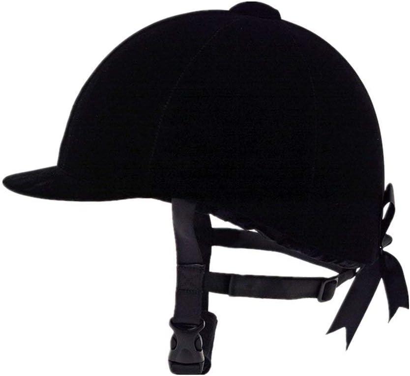 Casco equestre Non null Nero Velluto Confortevole Cappelli da Equitazione Traspirante 56CM Taglia libera 58CM,60CM Adulto Donna Uomo Equitazione Sport Caschi 56 cm.