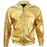 05da9f2dc58 70s 80s 90s Quality Metallic Shiny Rave Bomber Jacket Hologram Festival  Fancy Dress