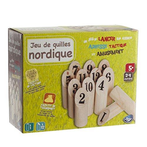 Nordisches Holzwurfspiel MOLKKY aus Holz