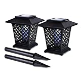 Solar Lantern Bug Zappers with Ground Stake Attachments (Set of 2)