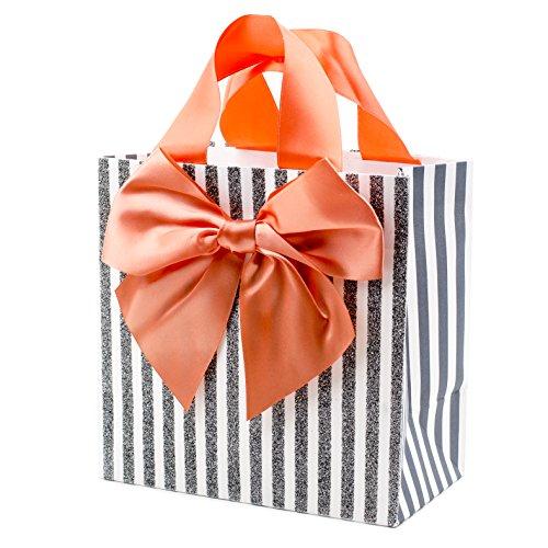 Hallmark Signature Medium Gift Bag (Huge Bow on Stripes) -
