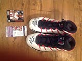 Autographed Signed Dennis Rodman Shoes With Two Inscriptions JSA Authenticated Converse