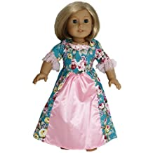 BUYS BY BELLA Blue Full Length Historical Dress for 18 Inch Dolls Like American Girl