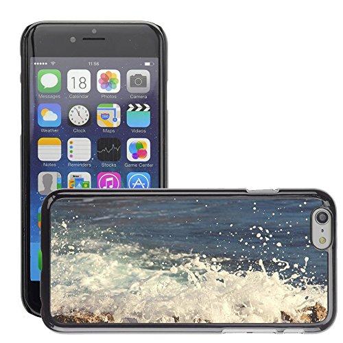"Just Phone Cases Hard plastica indietro Case Custodie Cover pelle protettiva Per // M00421728 Crashing Waves eau océan mer // Apple iPhone 6 6S 6G PLUS 5.5"""