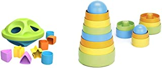 product image for Green Toys Shape Sorter, Green/Blue & Green Toys My First Stacker