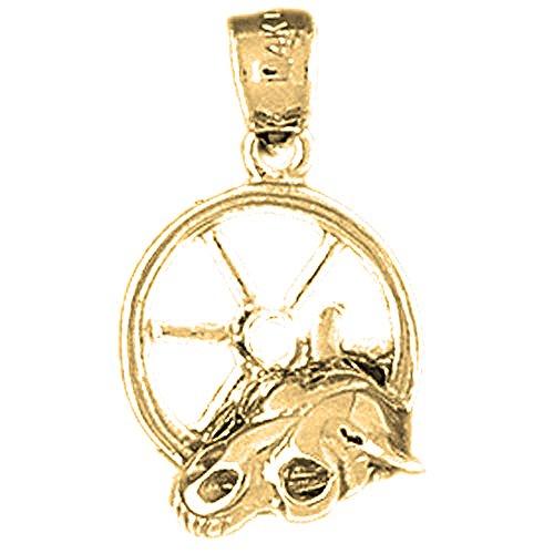 - Jewels Obsession Donkey Charm Pendant | 14K Yellow Gold Donkey Pendant - 23 mm