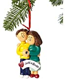 Ornament Central OC-039-MBR-FBR Engaged Couple Ornament