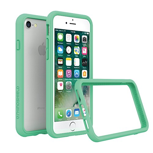 RhinoShield Bumper Case for iPhone 8 / iPhone 7 [NOT Plus] | [CrashGuard] | Shock Absorbent Slim Design Protective Cover [3.5 M / 11ft Drop Protection] - Mint Green