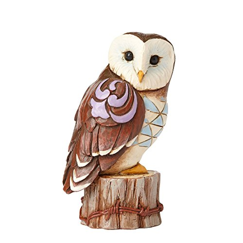 Owl Bird Figurine - Enesco Jim Shore HWC Mini Owl On Stump Figurine