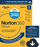 Software : EXCLUSIVE Norton 360 Deluxe - Antivirus software for 5 Devices with Auto Renewal - 15 Month Subscription - 3 Months FREE - Includes VPN, PC Cloud Backup & Dark Web Monitoring powered by LifeLock - 2020 Ready [Download]