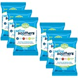 Saline Soothers Moisturizing Tissue for Face, Nose, Hand and Eye Wipes, Boogie Wipe, Allergy Relief, Unscented, 120 Wet Wipes (Pack of 6)