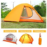 Cheap OUTAD 2-Person Lover Tents Portable Folding Waterproof Lightweight Double Layer Tent (Yellow)