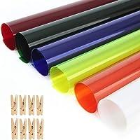 Selens 40x50cm Gel de Color Filtro Luz Geles de Corrección Láminas Plástica de Película de Color Transparente para Foco…