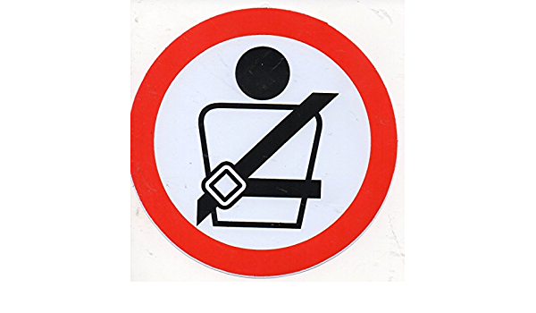 Fasten Seat Belts Mandatory Sign Car Bumper Sticker Decal /'/'SIZES/'/'