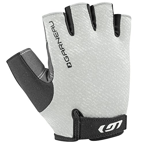 Louis Garneau Men's Calory Padded, Breathable, Shock Absorbing, Half Finger Bike Gloves, Heather Gray, Medium - Louis Womens Glove