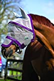Horseware Rambo Plus Fly Mask Horse Silver/Purple