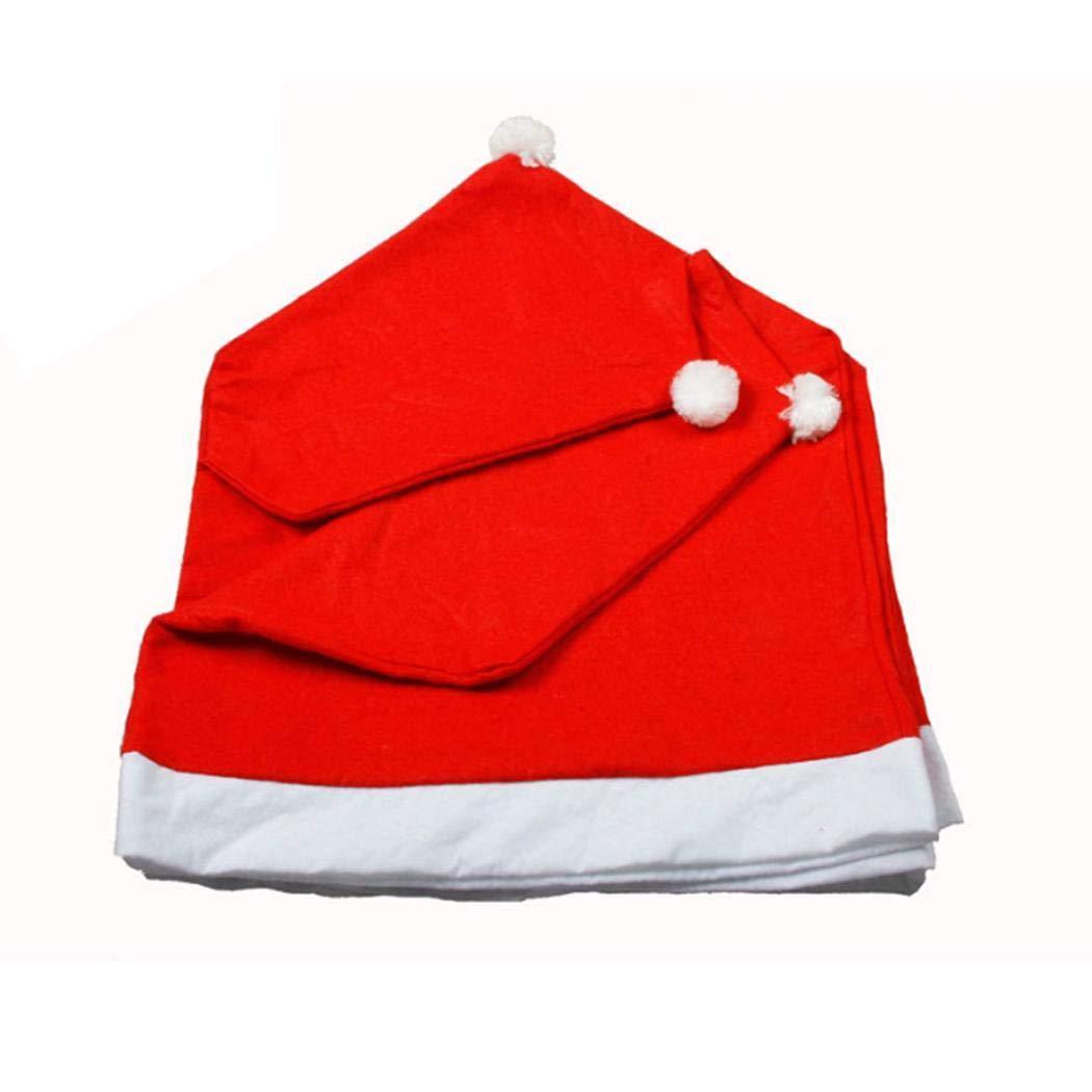 Riklos Oplon 4 Pezzi Copertura della Sedia Decorazione del Partito della casa della Copertura della Sedia di DIY di Forma del Cappello di Natale del Fumetto Zerbini Zerbini