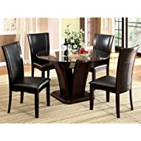 247SHOPATHOME Idf-3710RT-5PC Dining-Room-Sets, Espresso