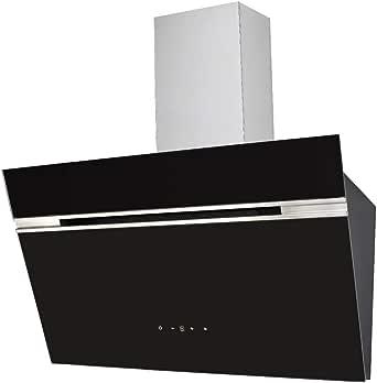 PKM S9-60ABTZ - Campana de pared (acero inoxidable, cristal, 80 cm, iluminación LED), color negro: Amazon.es: Grandes electrodomésticos