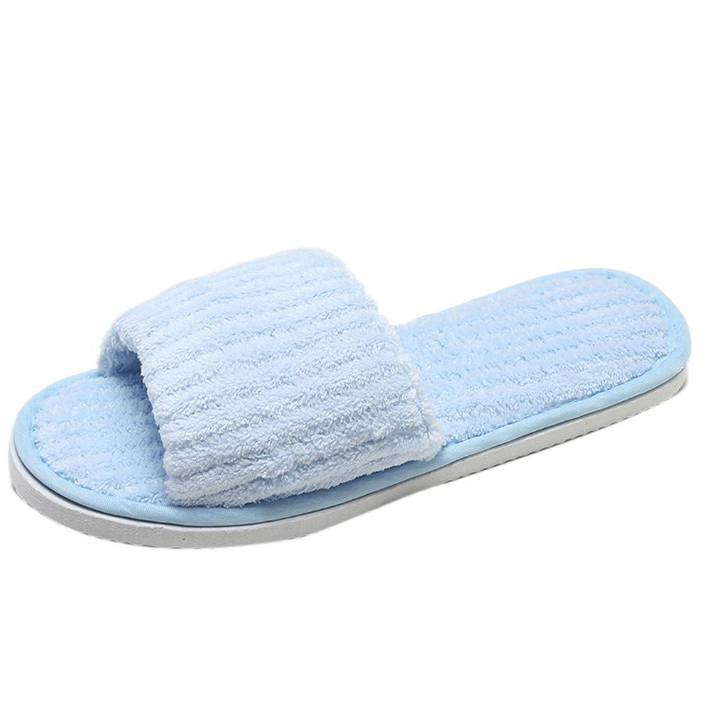 Household Skid Cotton Slipper Non-slip Indoor House Floor Shoes for Women Men