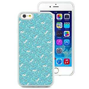 Beautiful Unique Designed iPhone 6 4.7 Inch TPU Phone Case With Ocean Theme Blue Pattern_White Phone Case