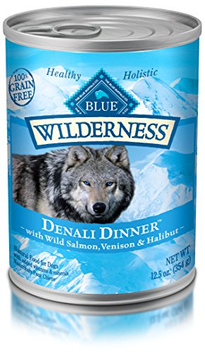 Blue Buffalo Salmon Dinner (BLUE Wilderness Grain Free Denali with Wild Salmon, Venison & Halibut Wet Dog Food 12.5-oz (pack of 12))