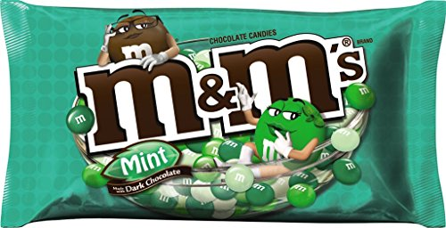 M&M'S Mint Dark Chocolate Candy 10.19-Ounce Bag (Pack of 12)