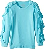 Chaser Kids Girl's Extra Soft Love Knit Ruffled Sleeve Pullover Sweater (Little Kids/Big Kids) Bali 8