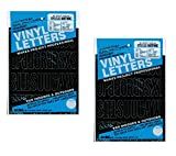 Duro Decal Permanent Adhesive Vinyl Letters & Numbers: 2'' Gothic Black (Pack of 2)
