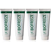 Biofreeze Pain Relieving Gel - 4 Ounce Tube - Pack of 4