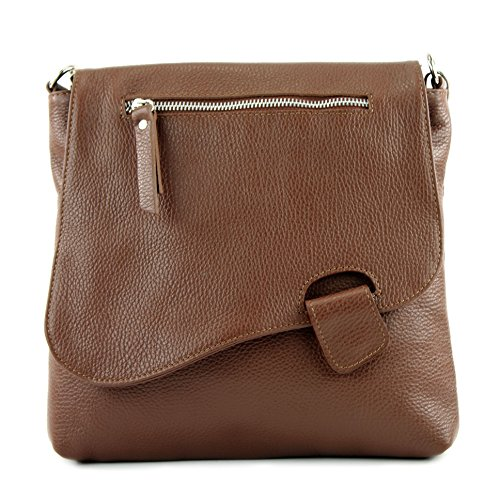 modamoda de de - ital de cuero bolso de las señoras bolsa de mensajero del bolso de hombro del bolso de cuero NT07 2en1, Präzise Farbe (nur Farbe):Braun