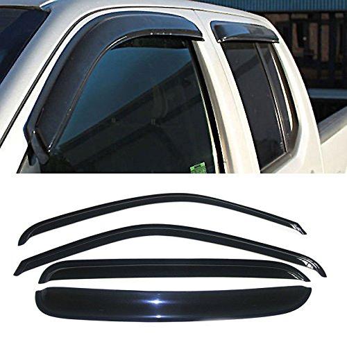Alxiang 4pcs Front Rear Smoke Sun/Rain Guard Vent Shade Window Visors For 99-00 Chevy/GMC C2500/K2500 92-00 C3500/K3500 Crew Cab 92-99 Suburban 95-99 Tahoe Yukon 99-00 Cadillac Escalade (Vent Visor C2500)