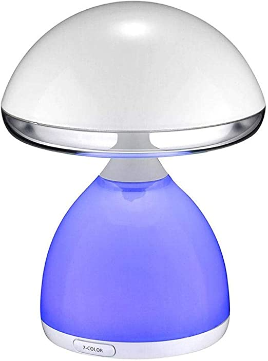 RongDuosi Lámpara de Mesa de Seta Creativa Carga USB Lámpara