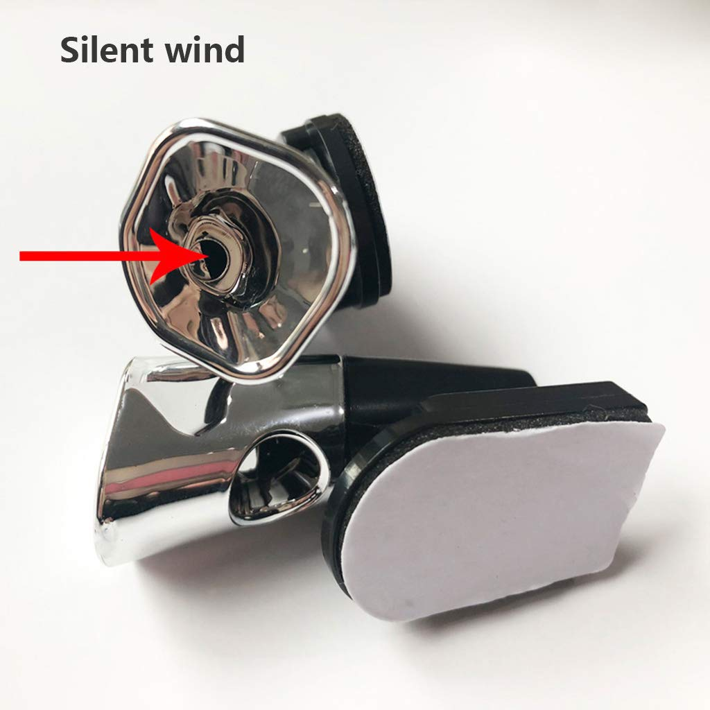 2 Pcs Animal Deer Warning Alarm Animal Drive,Car Wind Driven Tweeter Animal Whistle Bicycle Auto Accessories Bicycle Car Forest Driving,Silver,2Pcs