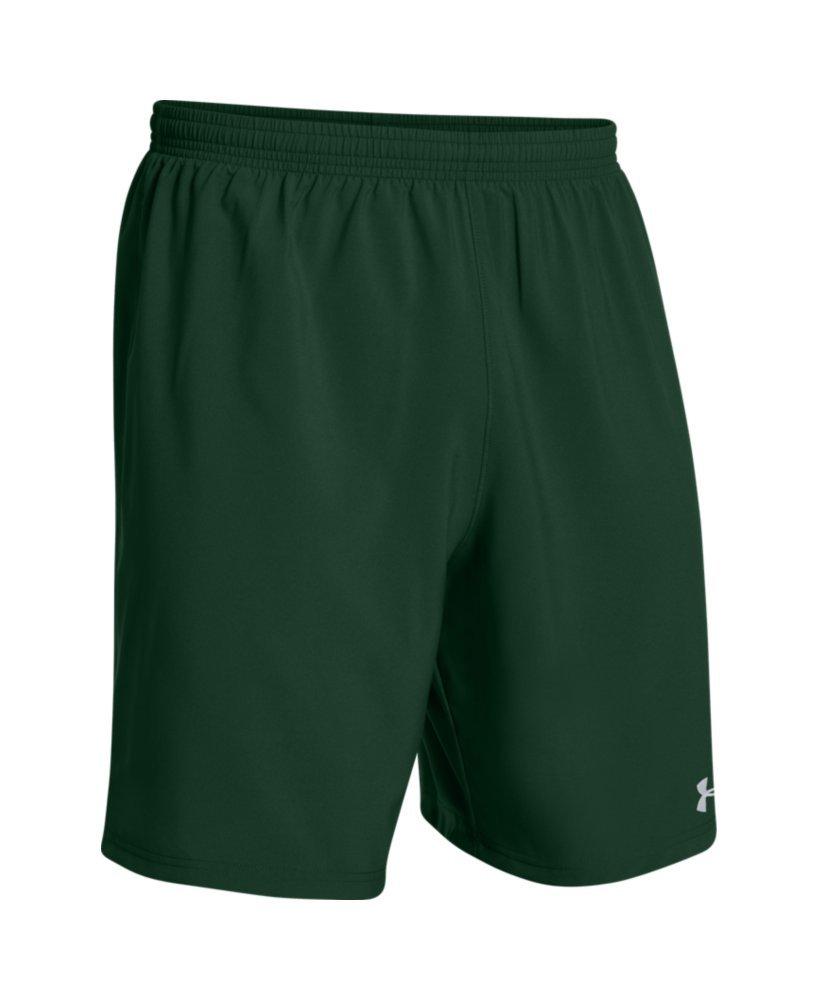 Under ArmourメンズHustle Soccer Shorts B00Y2T4LNW Small|グリーン/ホワイト グリーン/ホワイト Small