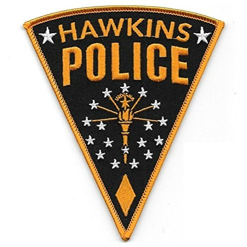 Stranger Things Hawkins POLIZIA DA STIRARE Toppa