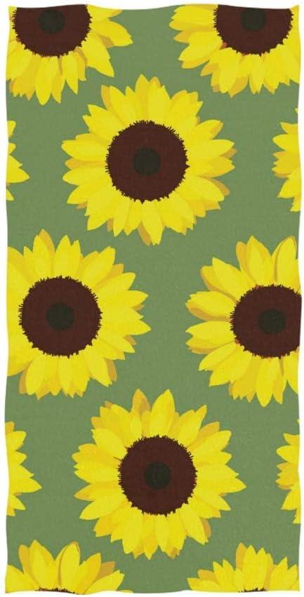 Bert-Collins Toalla de Mano Suave, Girasoles Amarillos Toallas de Mano Altamente absorbentes para baño, Mano, Cara, Gimnasio 27,5 x 15,7 Pulgadas TWL-554