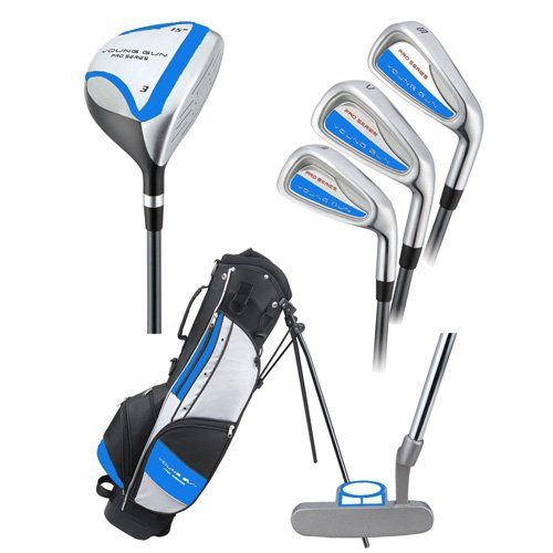 Young Gun Pro Blue Junior Complete Golf Club Set (Heights 42-Inch to 48-Inch), Outdoor Stuffs